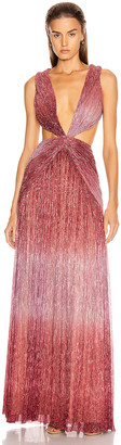 PatBO Ombre Lurex Sleeveless Cutout Gown in Light Orchid | FWRD