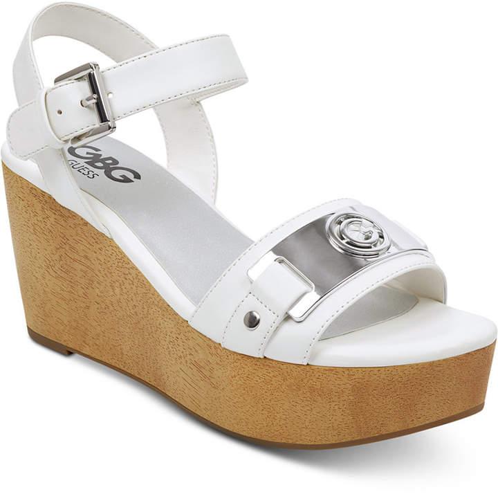 G by Guess Danna Platform Wedge Sandals Women Shoes