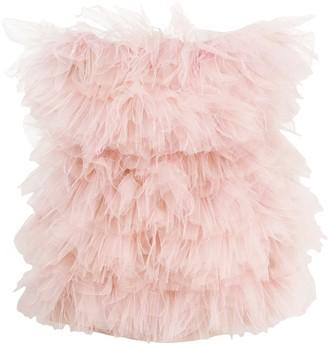 Loulou Ruffled Tulle Mini Dress