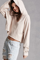Forever 21 FOREVER 21+ French Terry Cropped Hoodie
