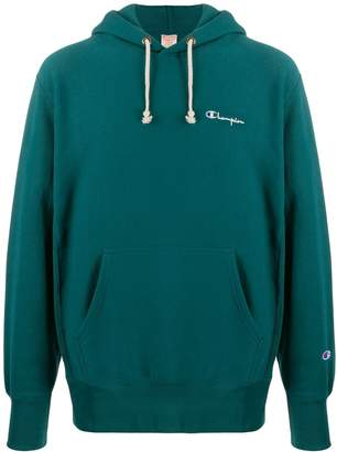 Champion logo embroidered jersey hoody