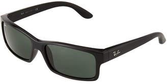 Ray-Ban Rectangular Tortoiseshell Acetate Sunglasses