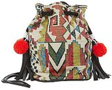 Charlotte Russe Tribal Woven Bucket Bag