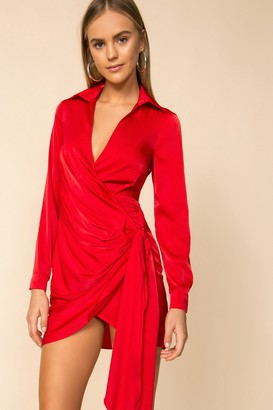superdown Sophie Draped Mini Dress