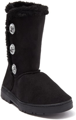 Bebe Jewel Button Faux Fur Lined Winter Boot