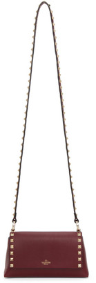 Valentino Burgundy Garavani Small Rockstud Shoulder Bag