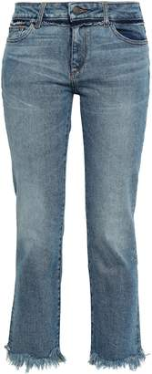 DL1961 Mara Frayed Mid-rise Straight-leg Jeans