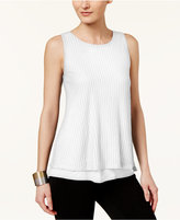 Cable & Gauge Lace-Up Textured Top
