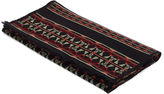 Valentino Men's Tribal Jacquard Fringed Wool Scarf In Black