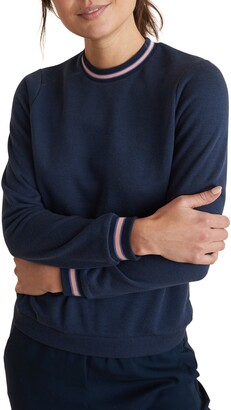 Marine Layer Stripe Trim Sweatshirt