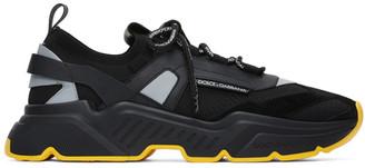 Dolce & Gabbana Black Stretch Knit Daymaster Sneakers