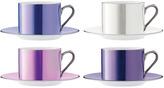 LSA International Polka Tea Cup & Saucer Set Of 4 Pastel