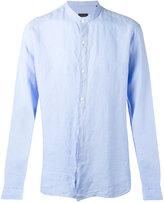 Z Zegna Korean collar long sleeve shirt - men - Linen/Flax - S