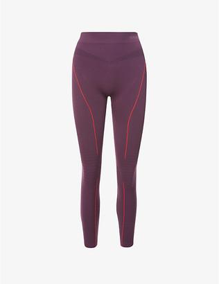FALKE ERGONOMIC SPORT SYSTEM Essential stripe high-rise stretch-woven leggings