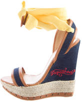 DSQUARED2 Denim Espadrille Wedges