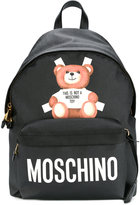 Moschino teddy bear paper cut out backpack - women - Leather/Polyurethane - One Size