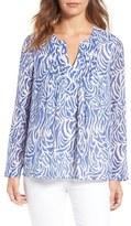 Vineyard Vines Women's Pintuck Silk & Cotton Top