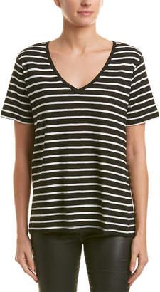 Splendid Striped Linen-Blend T-Shirt