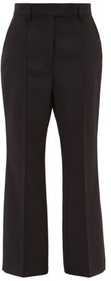 Acne Studios Patrina Flared Wool-blend Trousers - Black