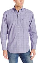 Izod Men's Long Sleeve Essential Windowpane Shirt