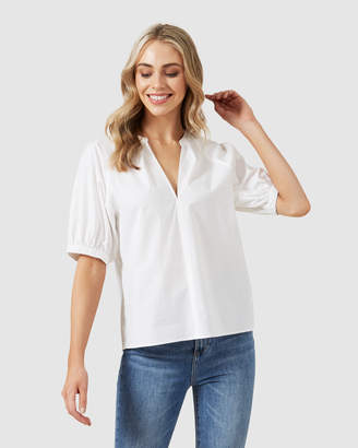 French Connection Gathered Sleeve Blouse