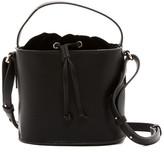 French Connection Dane Velvet Drawstring Bucket Bag
