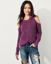 Hollister Garment-Dyed Cold Shoulder Sweater
