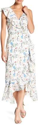 Lucy Paris Floral Print Wrap Dress