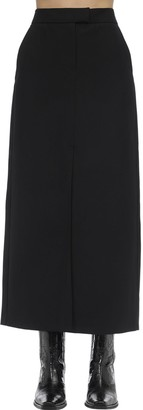 Karl Lagerfeld Paris Long Wool Blend Skirt