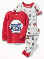 Old Navy Space-Graphic 3-Piece Sleep Set for Toddler & Baby