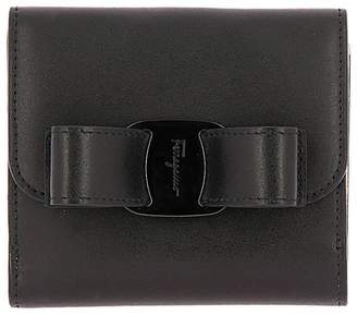 Salvatore Ferragamo Wallet Vara Rainbow Small Wallet In Smooth Leather With Vara Maxi Bow