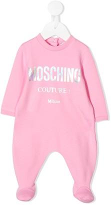 MOSCHINO BAMBINO Metallic Logo-Print Pajamas