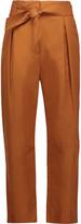 Sandro Paz cotton and linen-blend straight-leg pants