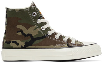 Carhartt Work In Progress Green Converse Edition Camo Chuck 70 Hi Sneakers