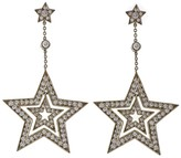 Tiffany & Co. Platinum 1.40ct Diamond Stars Double Drop Earrings