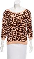 Marc by Marc Jacobs Cheetah Print Velour Sweatshirt