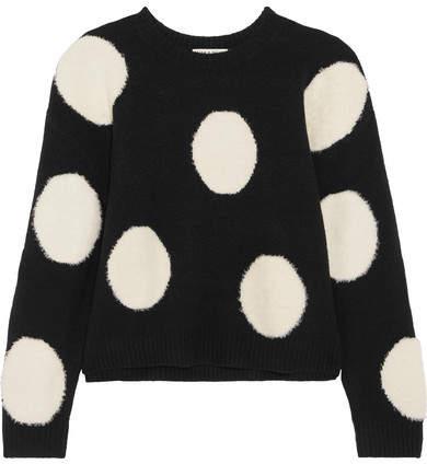 Alice + Olivia Alice Olivia - Gleeson Intarsia Wool Sweater - Black