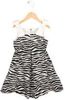 Dolce & Gabbana Girls' Zebra Print A-Line Dress