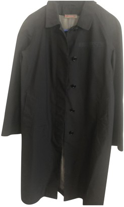 Prada Black Cotton Trench Coat for Women