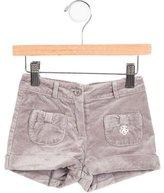 Tartine et Chocolat Girls' Velvet Bow-Adorned Shorts