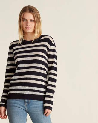 Le Mont St Michel Striped Crew Sweater