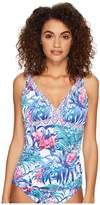 Tommy Bahama Majorelle Jardin Shirred Tankini Women's Swimwear