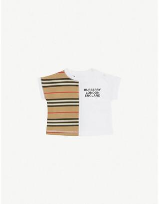 Burberry Yoko logo-print striped cotton T-shirt 1-18 months