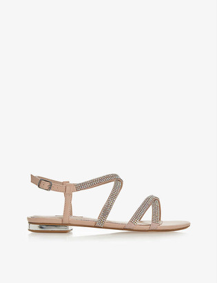 Dune Neevie embellished leather sandals