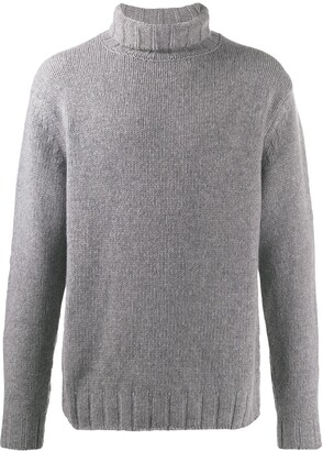 Closed Ribbed Roll Neck Jumper