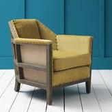 Graham and Green Hoxton Armchair in Mustard Velvet