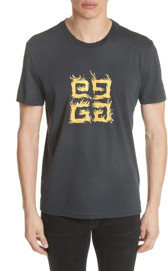 Givenchy 4-G Vintage Wash T-Shirt