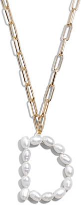 BaubleBar Blair Hera Pearl Initial Pendant Necklace