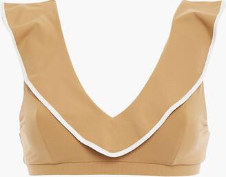 Marysia Swim Ruffled Gingham Bandeau Bikini Top