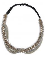 Maison Michel chain hairband